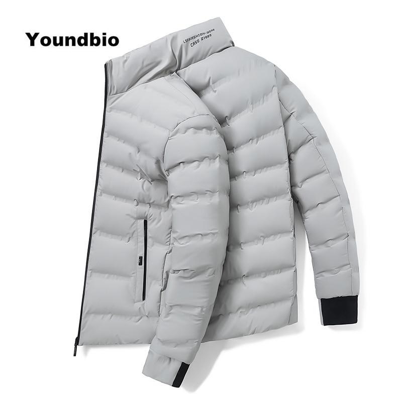 2021 Winter Men Parkas Coat Warm Clothes Male Autumn Casual Solid Jacket Overcoat Fashion Streetwear