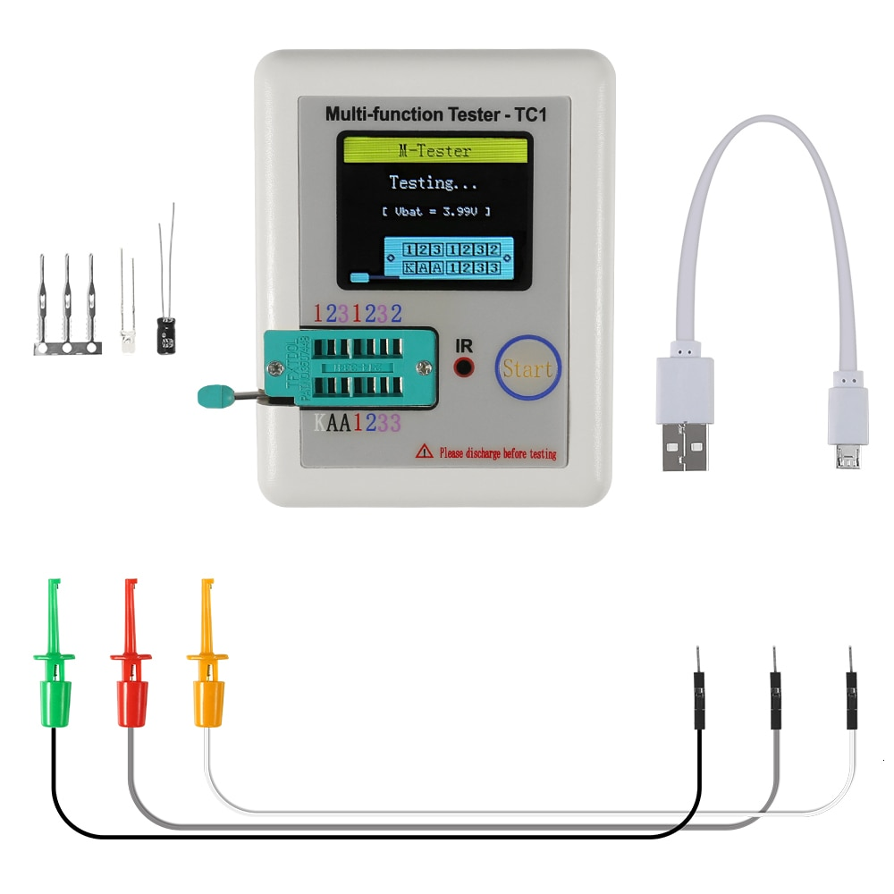 new 1 8 inch tft lcd lcd display spi interface solder 14pin 128160 hd resolution used as meter meter character icon etc lcr Meter lcr-tc1 Transistor Tester lcr Meter lcr tc1 1.8 inch Display Multi-function tft  Transistor Tester