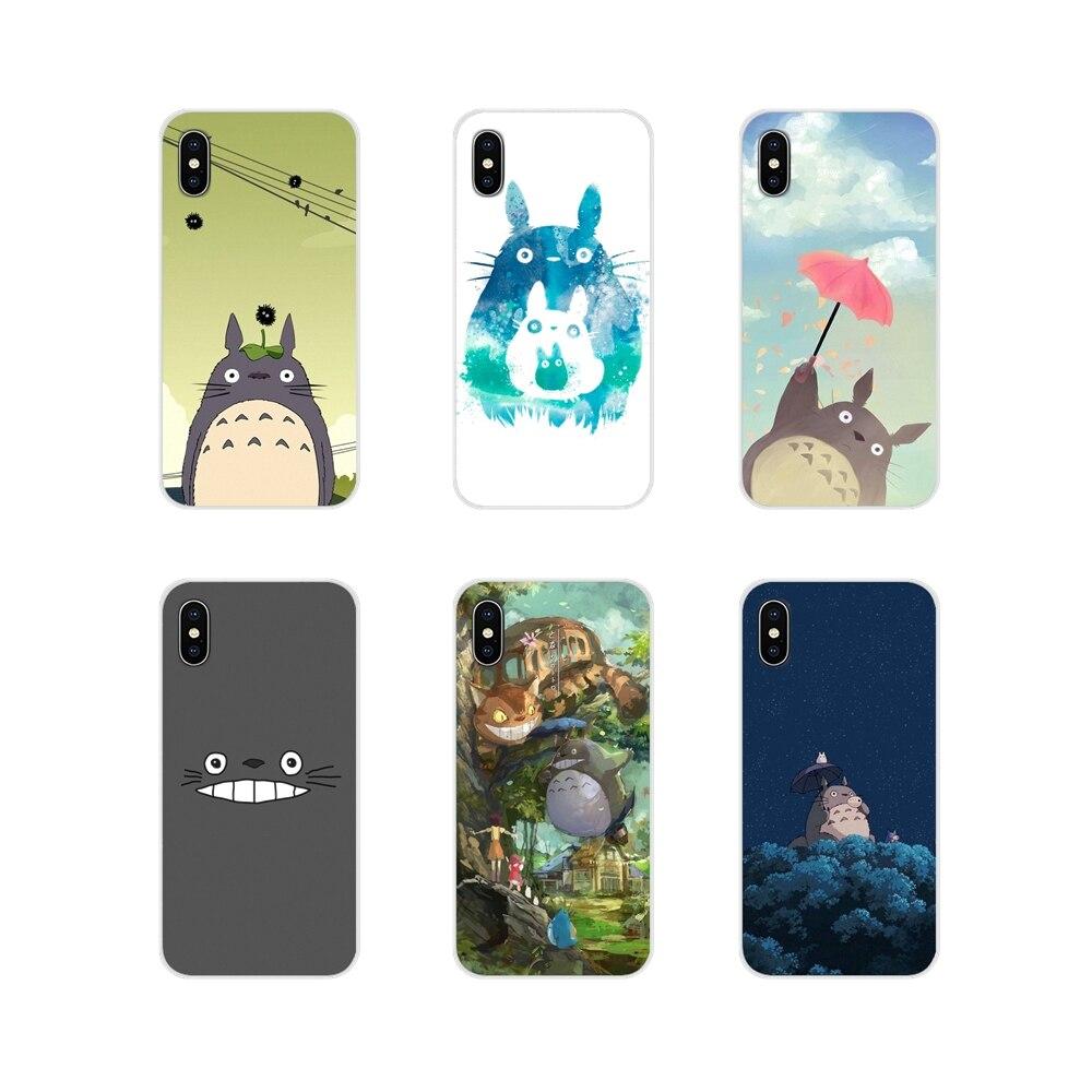 Studio Ghibli mi vecino TOTORO celular bolso de funda de teléfono para iPhone X de Apple XR XS 11Pro MAX 4S 5S 5C SE 6 6S 7 7 Plus ipod touch 5 6