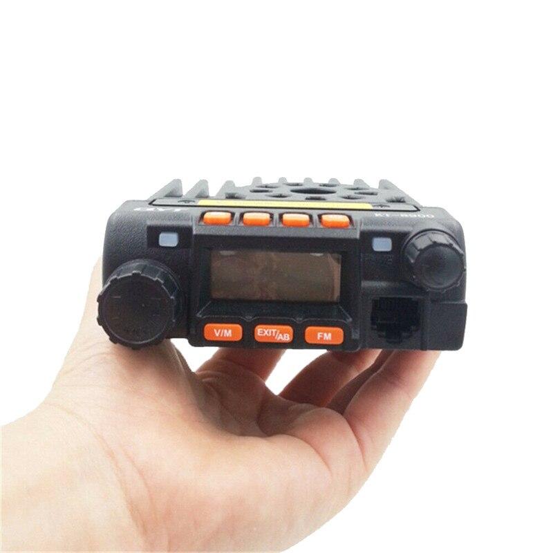 Mini Mobile Radio Dual Band  KT-8900 25W Walkie Talkie 136-174MHz 400-480Mhz Mobile Transceiver
