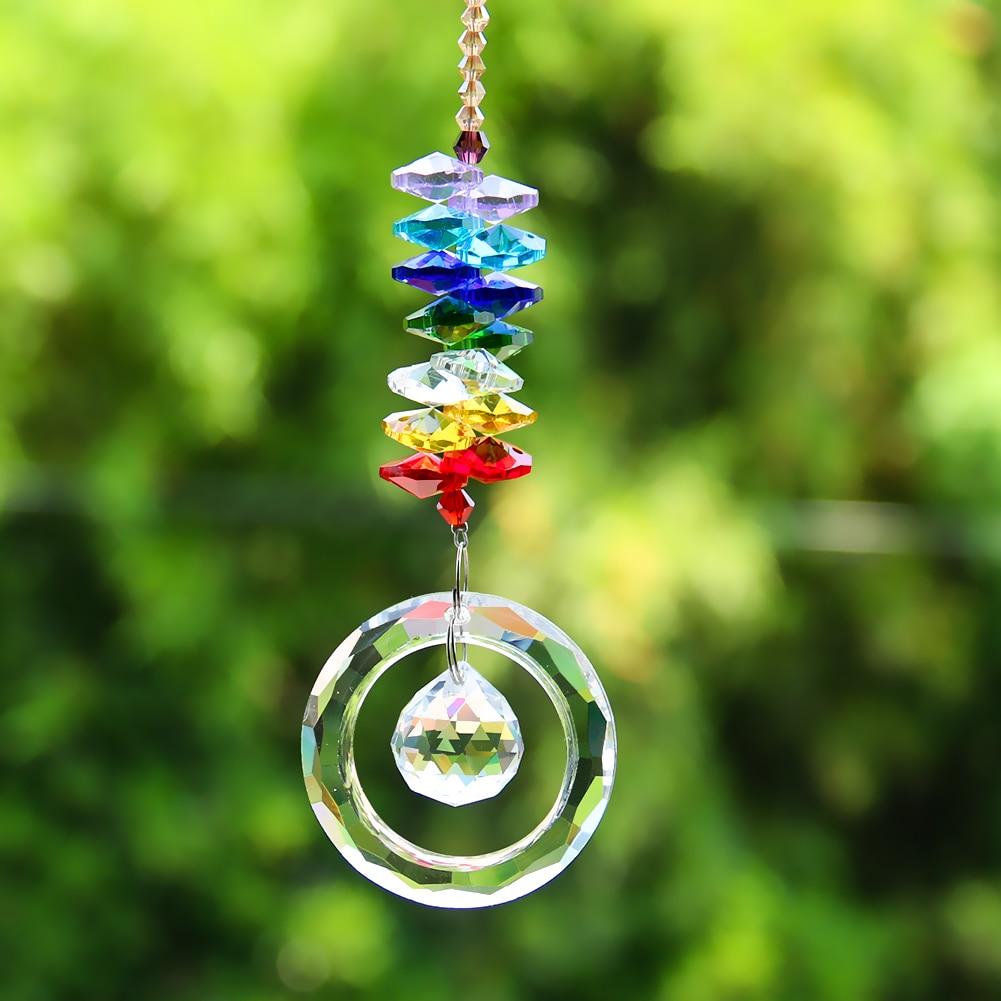 Хрустальная Призма чакра «сделай сам», радужные кристаллы, шар гирлянды бисер, Ловец Солнца, подвесные детали для люстры, подвесное украшен...