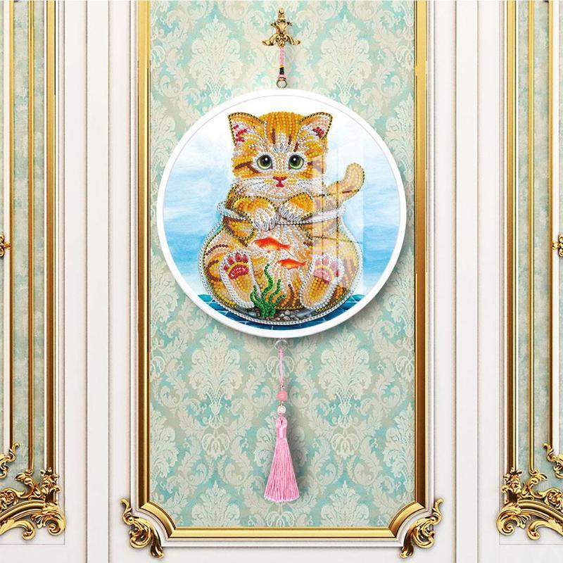 Gallo Mural borlas forma especial DIY diamante pintura casa colgantes brillo forma especial taladro completo casa decoración Dropshipping. Exclusivo.