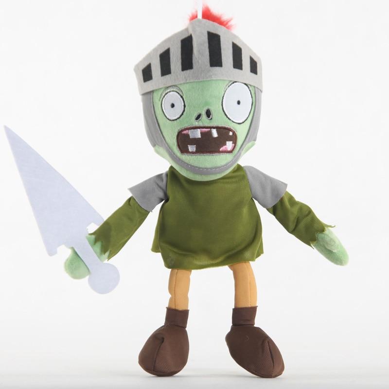 Newest 30cm PVZ Plant Vs Zombies Plush Toys Knight Zombie Plush Toy Dolls For Kids Gift