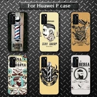 funny letter barber shop hair phone case for huawei p40 pro lite p8 p9 p10 p20 p30 psmart 2019 2017 2018