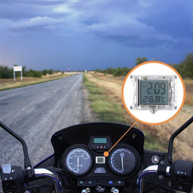 אוניברסלי אופנוע שעון שעון עמיד למים זוהר Moto טרקטורונים חשמלי רכב אופניים שעון עם טמפרטורה עבור ימאהה הונדה