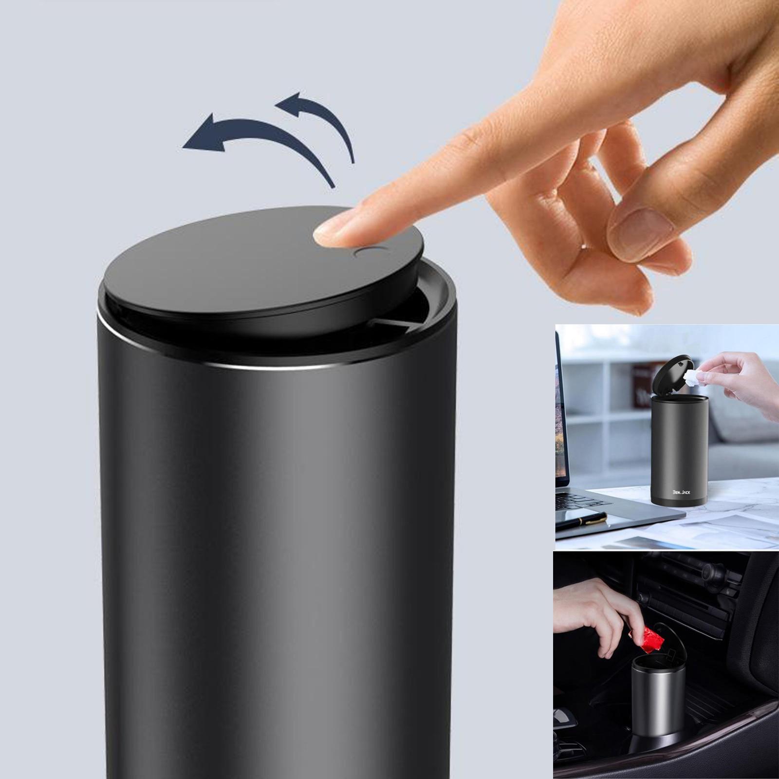 Alloy ABS Car Trash Can Auto Organizer Storage Bag Car Garbage Bin Ashtray Dust Case Holder Car Acce