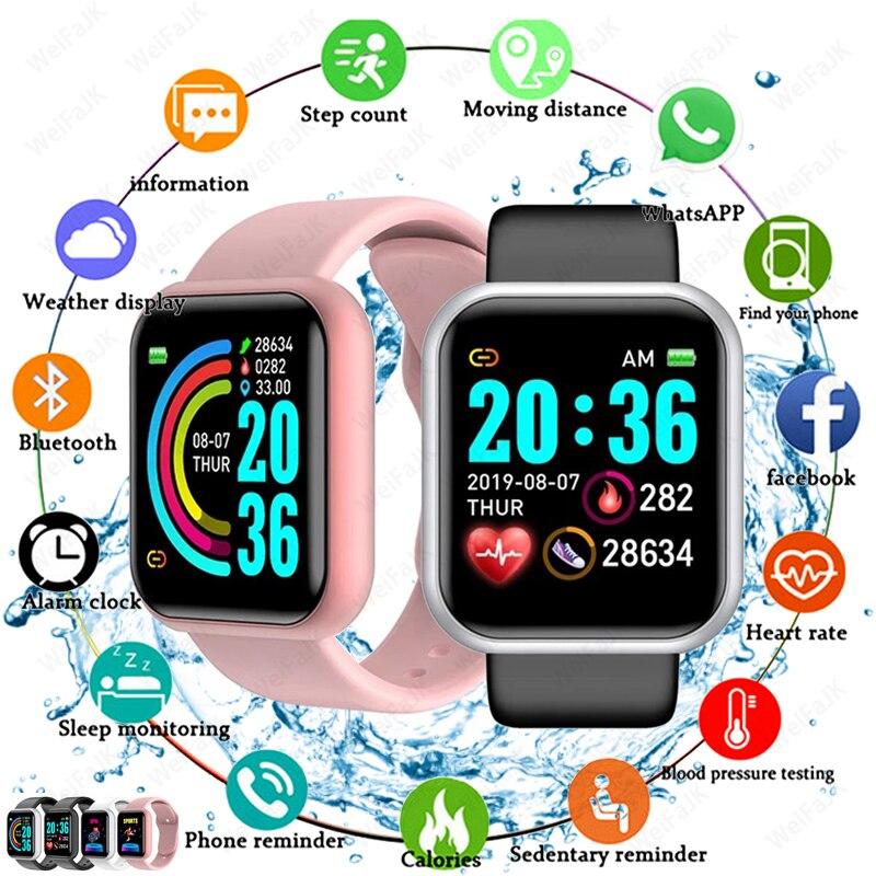 2021 Smart Watches Men Women D20 Smart Watch Blood Pressure Monitor Sports Fitness Bracelet Smartwatch For Apple Xiaomi Android