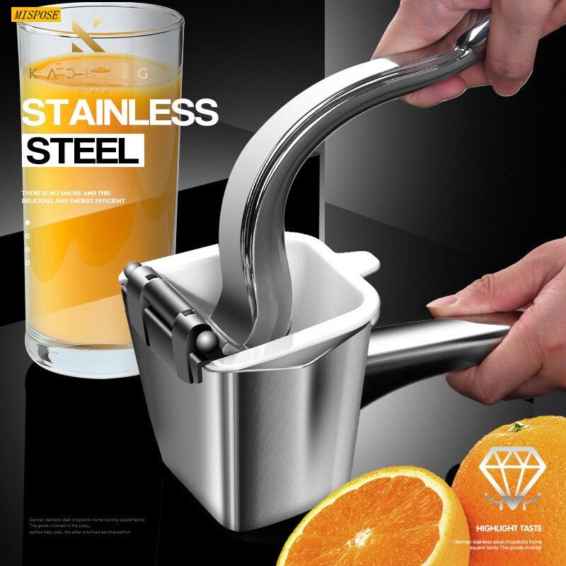 عصارة يدوية مصنوعة من الفولاذ المقاوم للصدأ 304 عصارة يدوية منزلية للفاكهة عصارة الليمون وفاكهة البرتقال أداة صغيرة لتصفية عصارة المطبخ