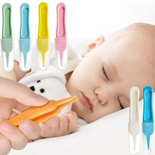 Baby Nose Clean Tweezers ABS Plastic Nasal Cleaner Round Head Clamp Dig Nose Cleaner Clip Baby Safet