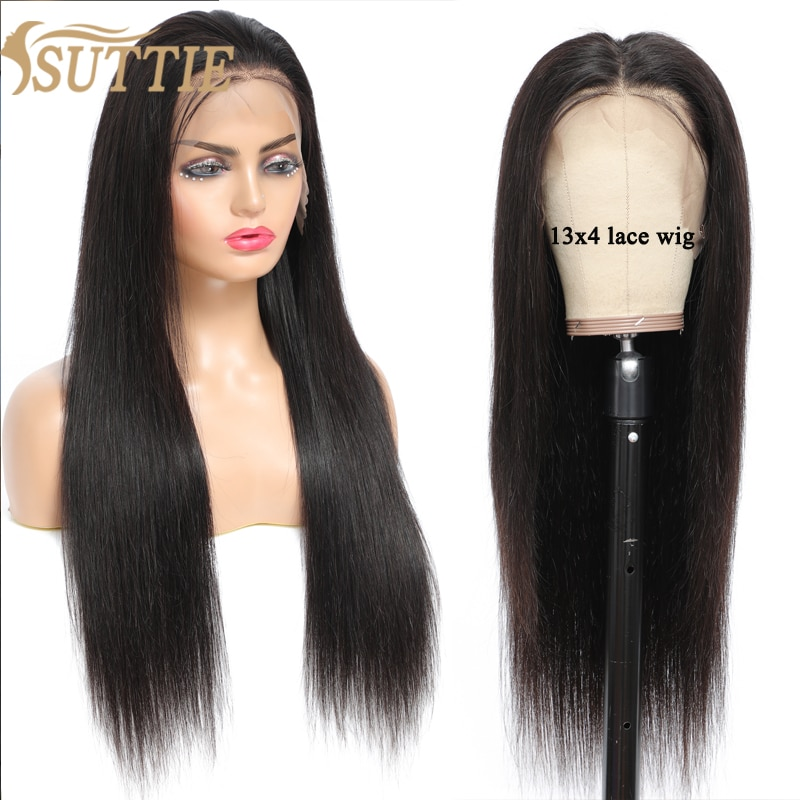 Suttie HAIR Straight Lace Front Human Hair Wigs Long Malaysian Remy For Black Women 13X4 Lace Frontal Wig 150% 180% Density