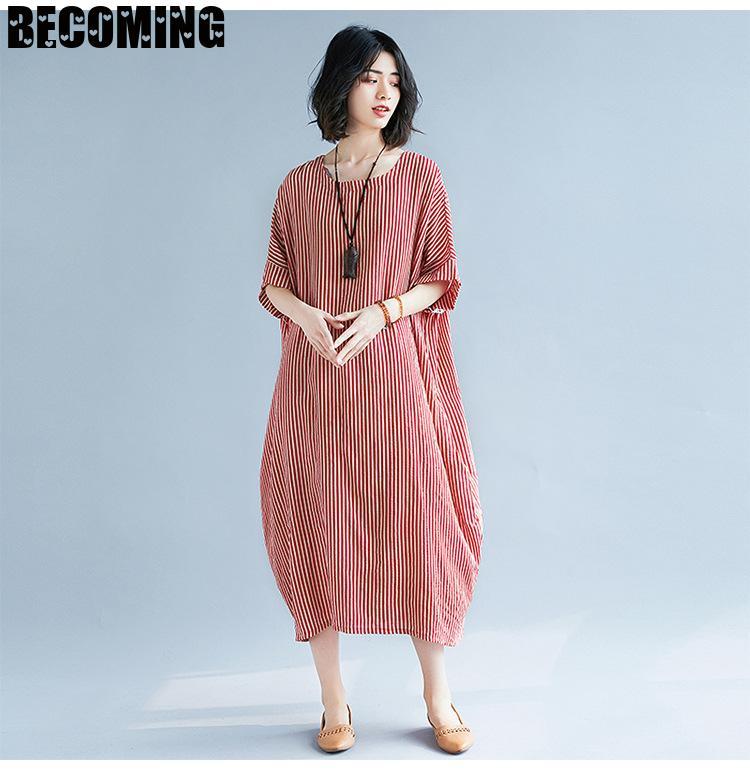 Dress For Pregnant Women Loose Big Cotton Maternity dress Short Sleeve Summer Pregnancy Dress Plus Size Summer Maternity Dress enlarge