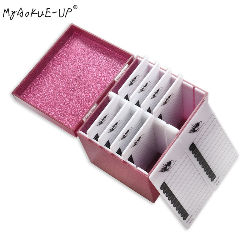 4 Colors Makeup Organizer Eyelash Glue Pallet Lashes Holder 5/10 Layers Eyelash Storage Box  Grafting Eyelash Extension Tool