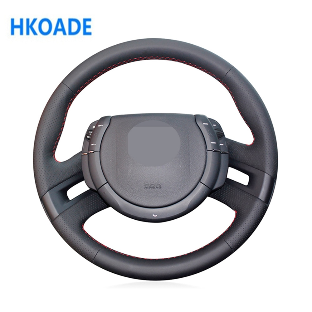 DIY Black Comfortable and Soft Artificial Leather Car Accessories Steering Wheel Cover For Citroen C4 Picasso 2007-2013