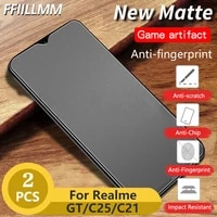 2pcslot matte protective glass for realme gt neo tempered glass for realme 8 7 pro 6 c25 c21 c20 c15 c12 c11 screen protector