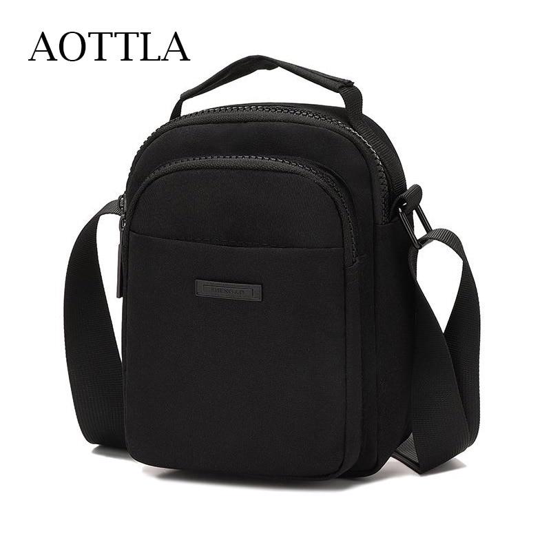 AOTTLA Oxford Cloth Men Shoulder Bag Handbag Casual Sport Bag Phone Pack High Quality Male Cross Bod