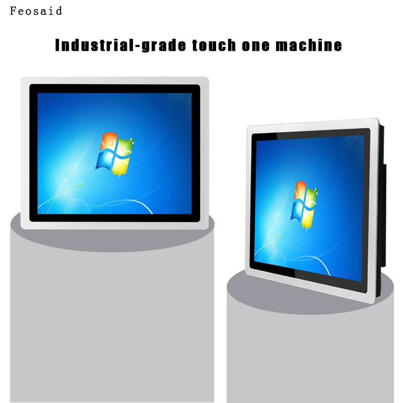 21.5 inch Industrial Panel PC 4G/8G core i3i5i7 capacitive touch all in one with wifi windows 10 Wall-mounted bracket mounting