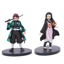 Anime Demônio Assassino Kimetsu não Yaiba Figura Kamado Kamado Tanjirou Nezuko espadachim Guerreiro PVC Action Figure Modelo Toy boneca