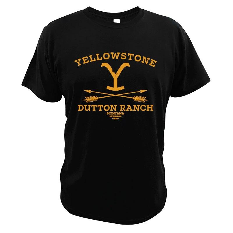 Yellowstones Dutton Ranch футболка пародия винтажная американская драма телевизионная серия европейский размер высокое качество футболка