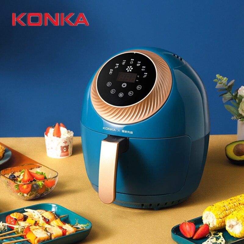 KONKA-freidora de aire multifunción inteligente de seguridad para el hogar, Máquina de palomitas profesional saludable, sin aceite, bajo contenido de grasa