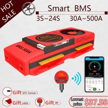 Smart BMS 4S LiFePo4 12V 24V 36V 48V 30A~500A Li-Ion LTO 3S 7S 8S 10S 12S 13S 16S 24S bms balance board bluetooth APP for solar