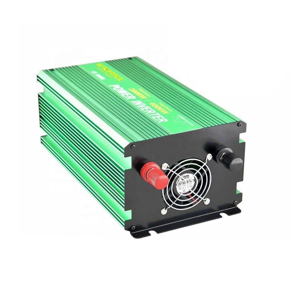 انخفاض سعر 12 فولت تيار مستمر 2000 واط تعديل موجة جيبية نقية عاكس الطاقة