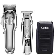 Kemei tondeuse à cheveux électrique tondeuse à cheveux coupe de cheveux de coiffeur tondeuse de coupe de cheveux machine kit combo KM-1987 KM-1986 KM-5027 KM-1102