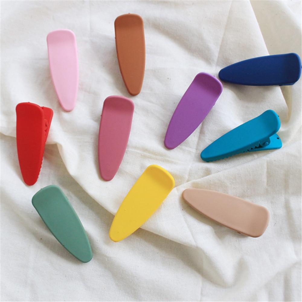 1 шт. милые матовые заколки для волос карамельных цветов для девочек, креативные геометрические заколки, заколки для волос, аксессуары для в...