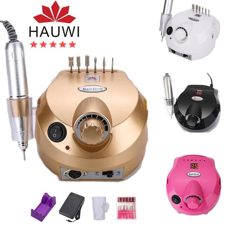 Best selling 35000 rpm electric nail drill head set milling cutter manicure machine nail manicure electric pedicure tool