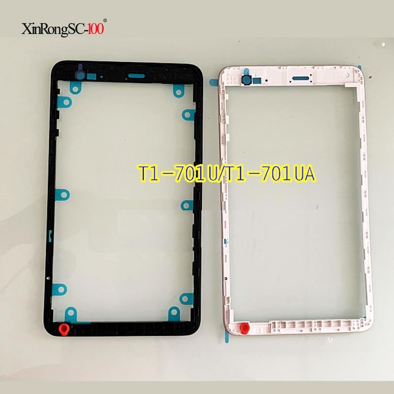 Para Huawei Honor Play Mediapad T1-701 T1-701U bisel de la carcasa de Marco medio chasis medio carcasa metálica + pantalla de protección de altavoz