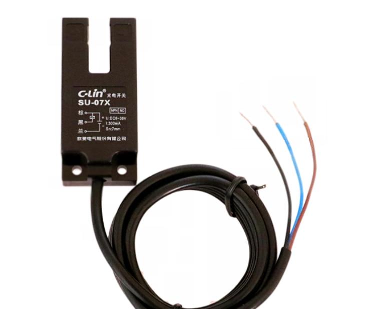 Slot-shaped photoelectric switch SU-07X NPN normally open, induction slot width 7mm U-shaped sensor