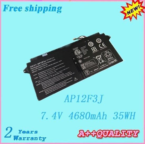 Batería portátil de alta calidad para ACER AP12F3J 2ICP3/65/114-2 Batería envío gratis