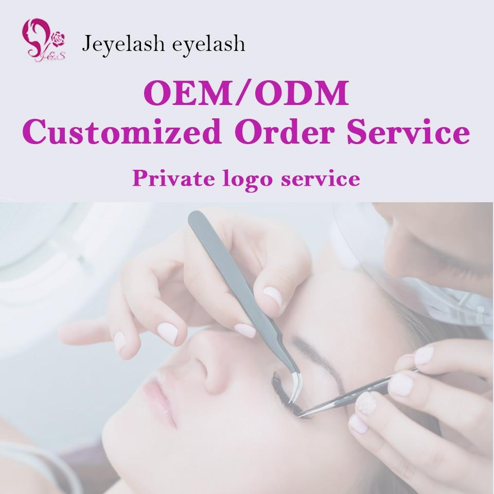 Jeyelash eyelash J&S  private logo customized false lash extension tailor lashes OEM ODM personal label service