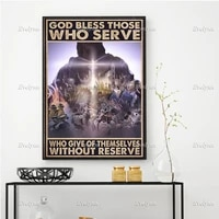 christian god bless those who serve who giveof themselves withoutreserve poster wall art prints home decor canvas floating frame