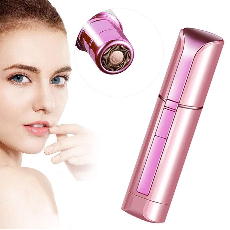 Portable Painless Face Shaver for Women Lipstick Razor Facial Hair Removal Cheek Lips Chin Epilator Hair Shaving Battery Type