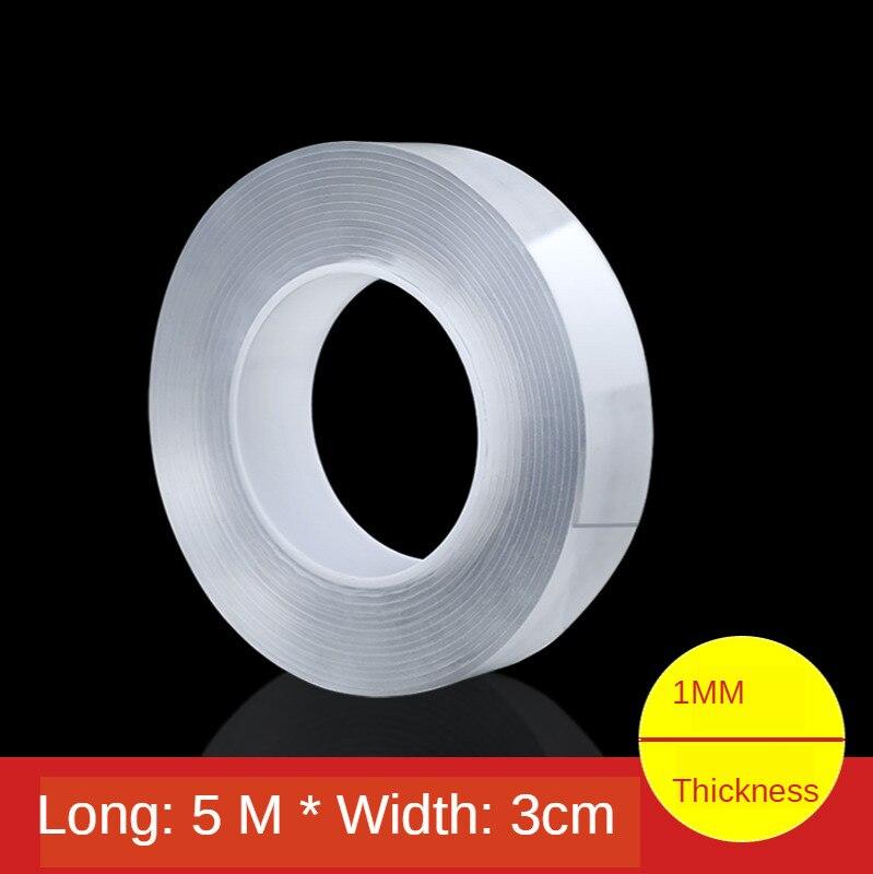 10 قطعة 1//3/5m قابلة لإعادة الاستخدام الوجهين لاصق نانو Traceless الشريط القابل للإزالة ملصق قابل للغسل لاصق حلقة أقراص التعادل الغراء أداة