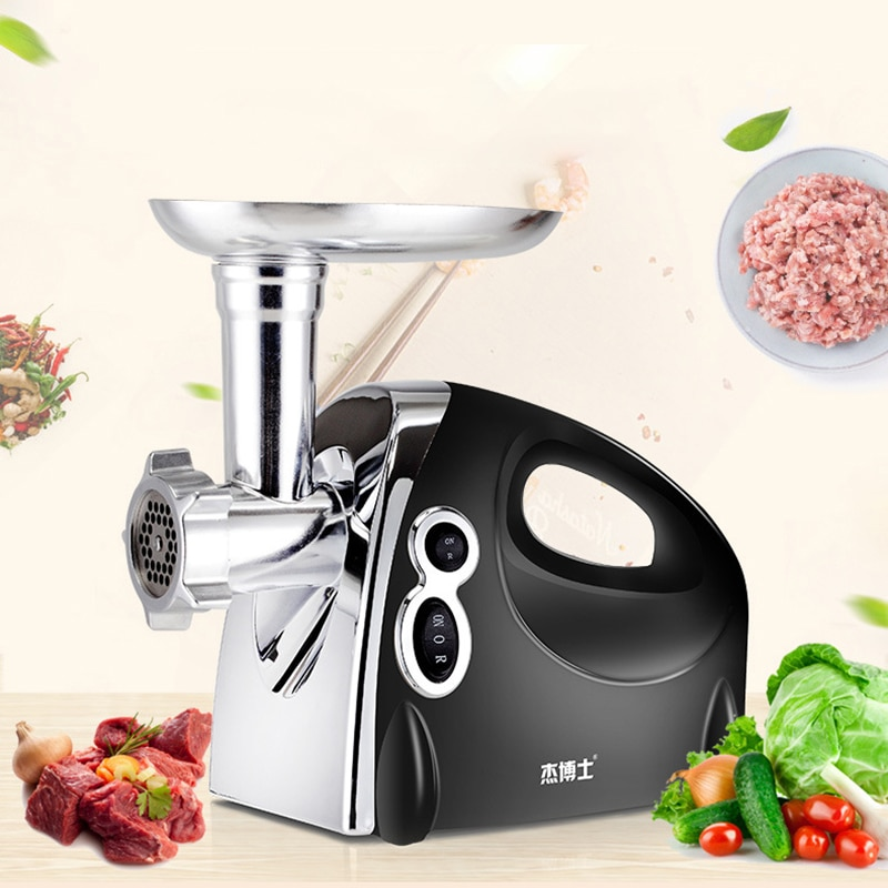 Electric Meat Grinder Fully Automatic Home 220V Minced Meat Food Processor Enema Machine Small Commercial Kitchen Appliances