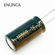 Condensador electrolítico de aluminio de alta frecuencia, condensador electrolítico de baja ESR/impedancia, tamaño 16*30 16V 10000uf 20%, 10000uf16V P81, 2 unids/lote