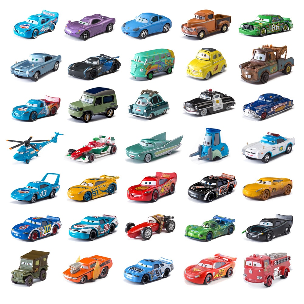 Boy Cars Toy Disney Pixar Cars 3 Lightning McQueen Toys Jackson Storm The King Mater 1:55 Diecast Metal Alloy Model Car Kid Gift