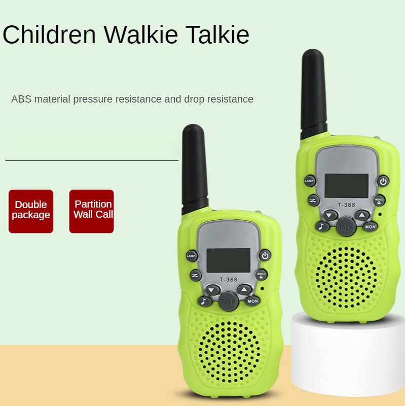 Electronic Product Children's Toy Walkie-talkie Light Green Mini Radio Parent-child Interactive Walkie-talkie Dropshipping