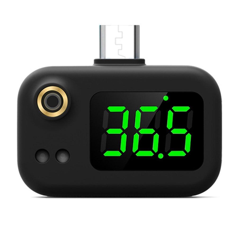 Умный термометр мобильный телефон USB, Бесконтактный инфракрасный термометр, портативный электронный термометр с ЖК-дисплеем