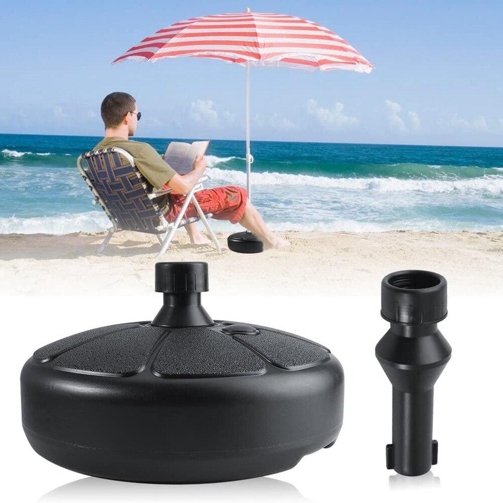 Round Parasol Base Plastic Beach Umbrella Stand Patio Umbrella Support enlarge
