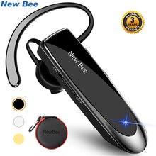 Nouveau Bee Original Bluetooth casque V5.0 affaires écouteur mains libres casque 24Hrs parler conduite casque avec micro pour téléphones