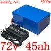 Batterie au Lithium pour vélo électrique 72V 20/25/30/35/40/45/50ah cellules Samsung pour moteur 2000/3000/4000W