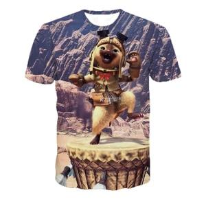3D Short Sleeve O Collar Monster Hunter Game T-shirt 3D Digital Print Loose Slim T-shirt Men's Shirt T-shirt 5XL Dropshipping