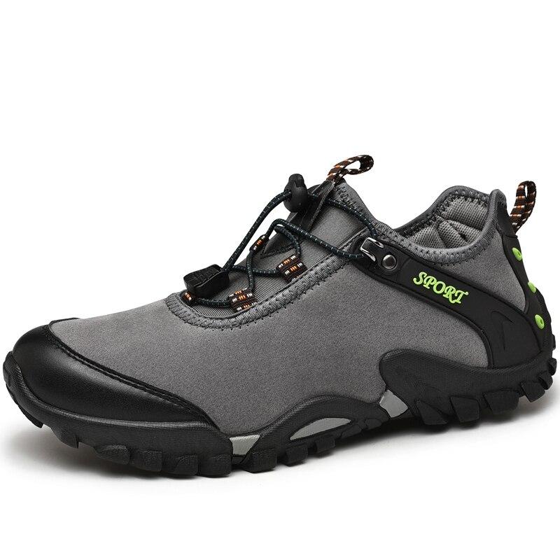 Zapatillas de deporte para hombre, zapatillas de cuero antideslizantes, zapatos de senderismo con suela de goma China, tamaño 45 46 para hombre