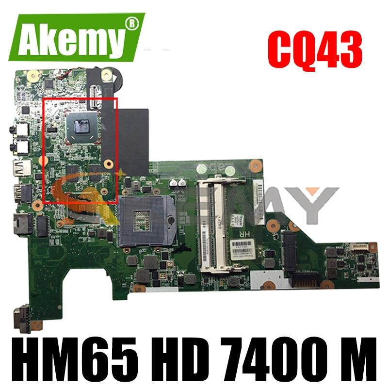 Akemy 646670-001 646672-001 For HP CQ43 431 631 لوحة الأم للجهاز المحمول HM65 HD 7400 M اختبار بطاقة الفيديو Ok Fast Ship