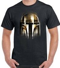 Boba Fett Helmet Mens T-Shirt Bounty Hunter Jedi Yoda Darth Vader High Quality Casual Printing Tee Shirt