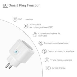 Smart Socket WiFi Wireless Remote Control Socket Adaptor Power ON/OFF with APP for Alexa Google Assistant EU Plug