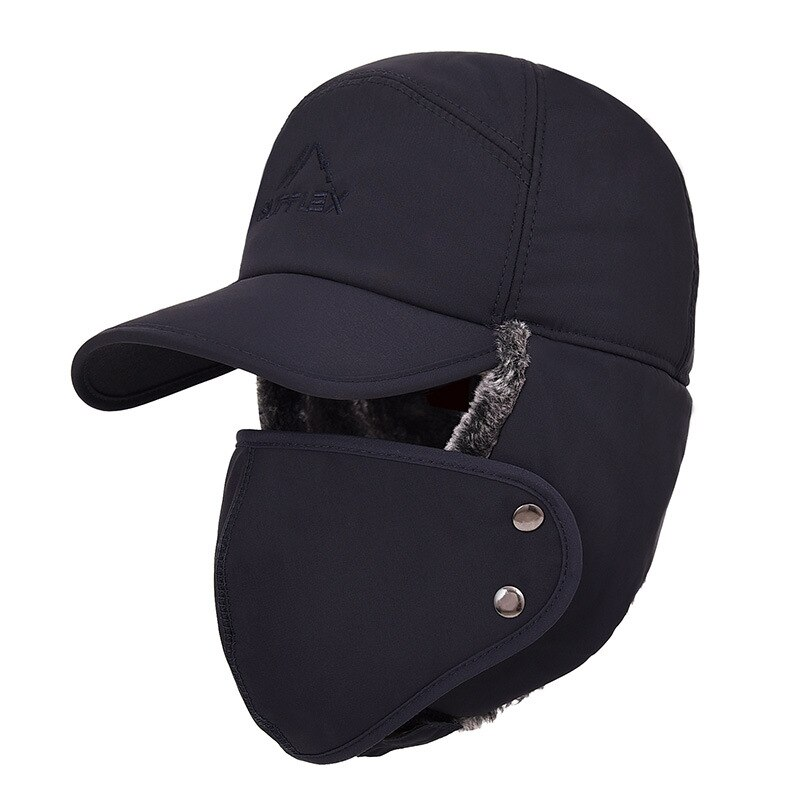 Winter Thermal Bomber Hats  Keep Warm Soft Men Women Fashion Ear Protection Face Windproof Ski Cap V
