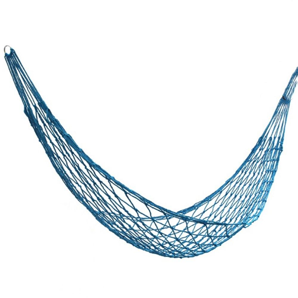 Nylon Portable Mesh Hammock Hanging Sleeping Bed Swing Outdoor Travel Camping